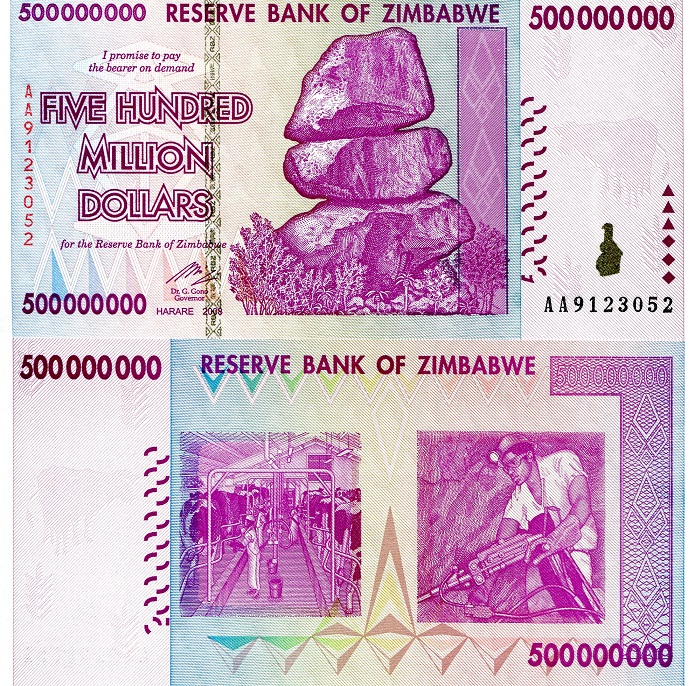500,000,000 dollars  (50) F Banknote
