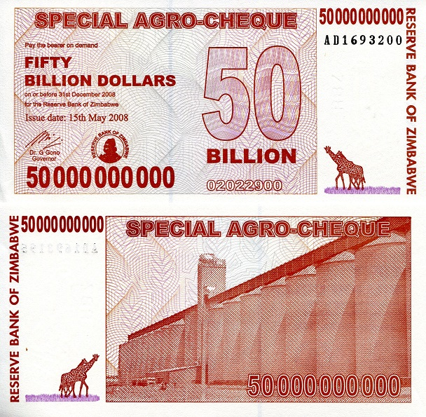 50,000,000,000 dollars  (50) F Banknote