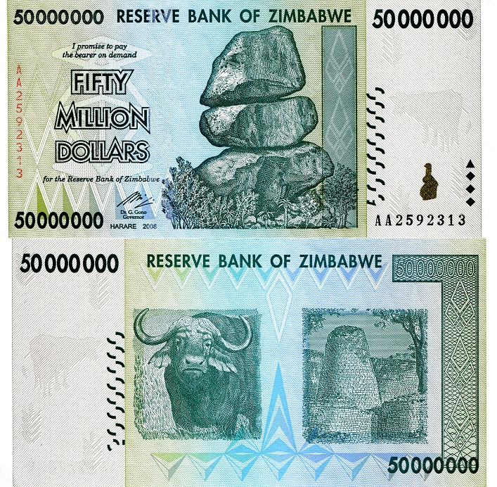 50,000,000 dollars  (50) F Banknote