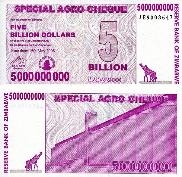 5,000,000,000 dollars  (50) F Banknote