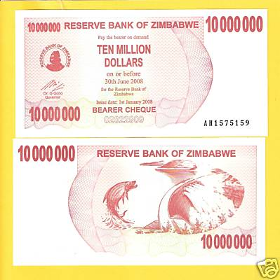 10,000,000 dollars  (50) F Banknote
